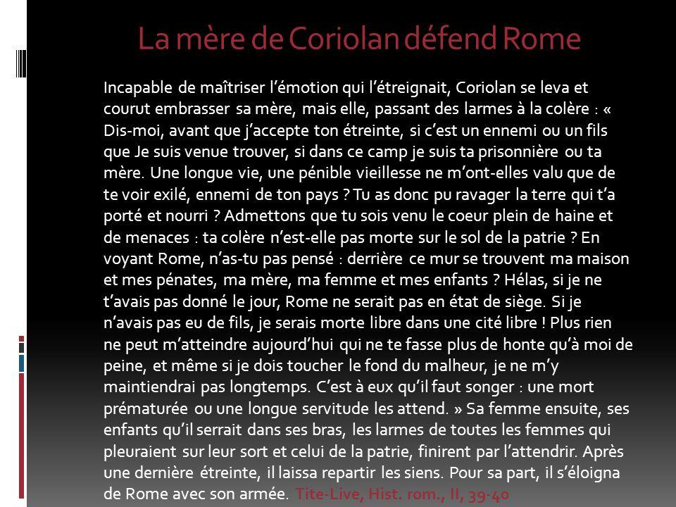 La mère de Coriolan défend Rome