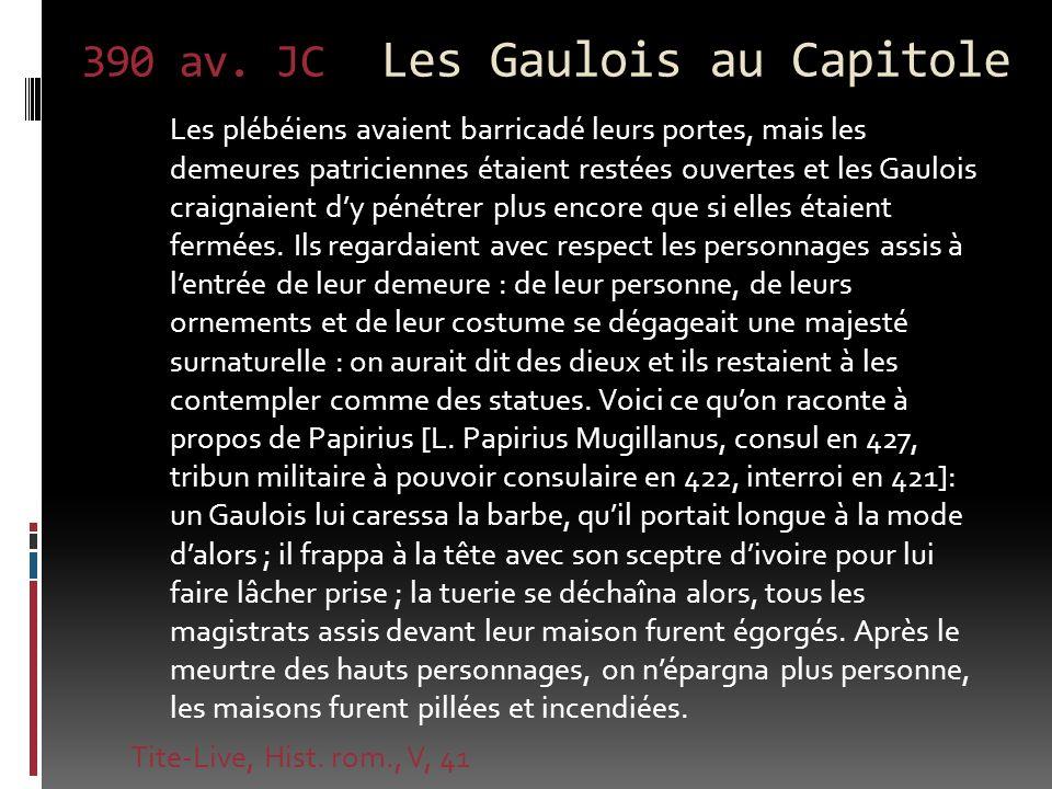 390 av. JC Les Gaulois au Capitole