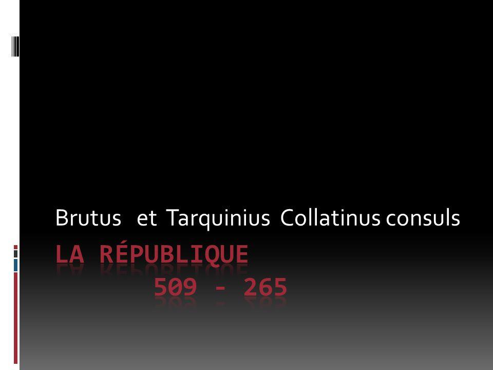 Brutus et Tarquinius Collatinus consuls