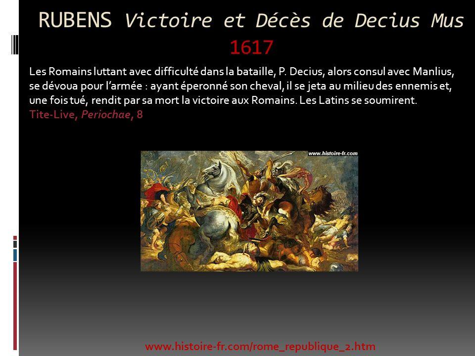 RUBENS Victoire et Décès de Decius Mus 1617
