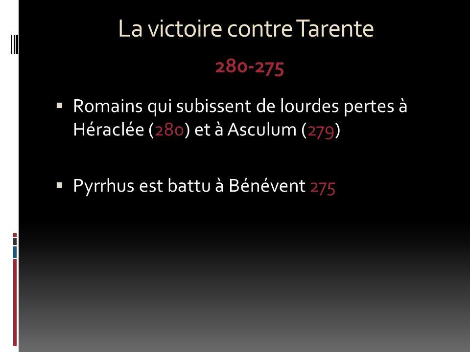 La victoire contre Tarente
