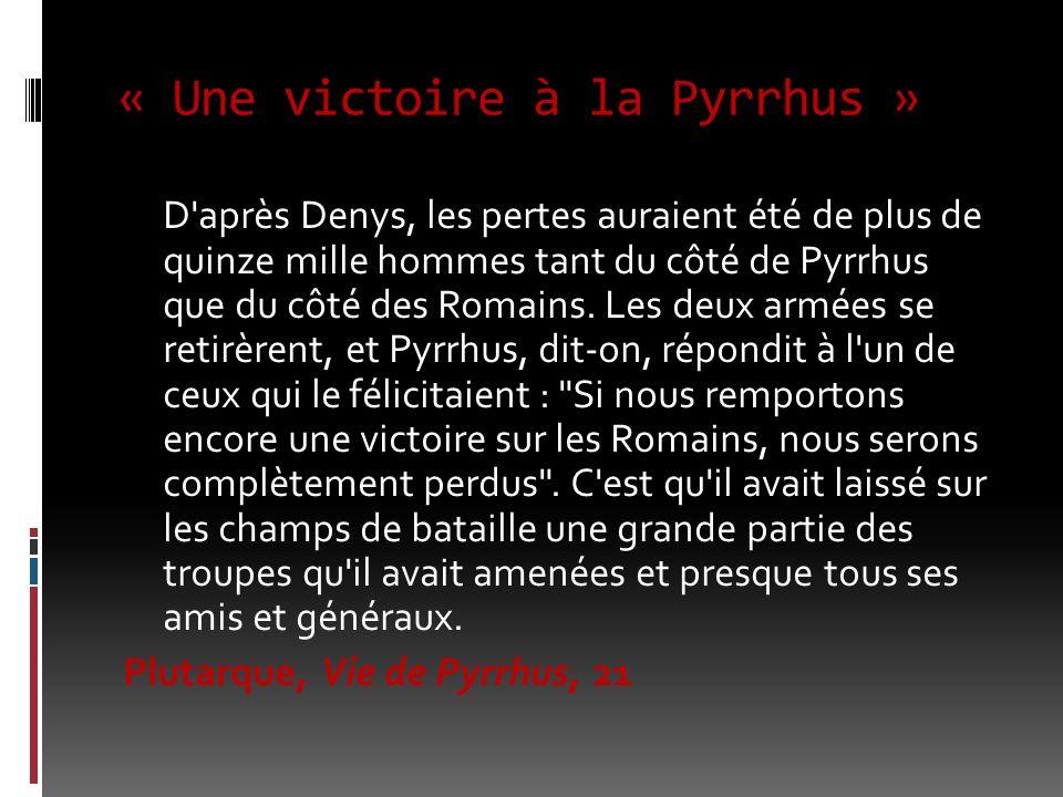 « Une victoire à la Pyrrhus »
