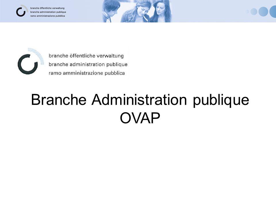 Branche Administration publique OVAP