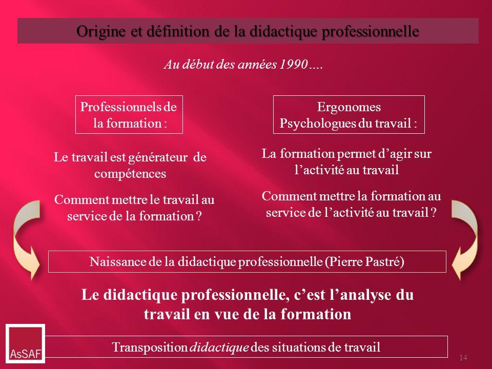 Origine et définition de la didactique professionnelle