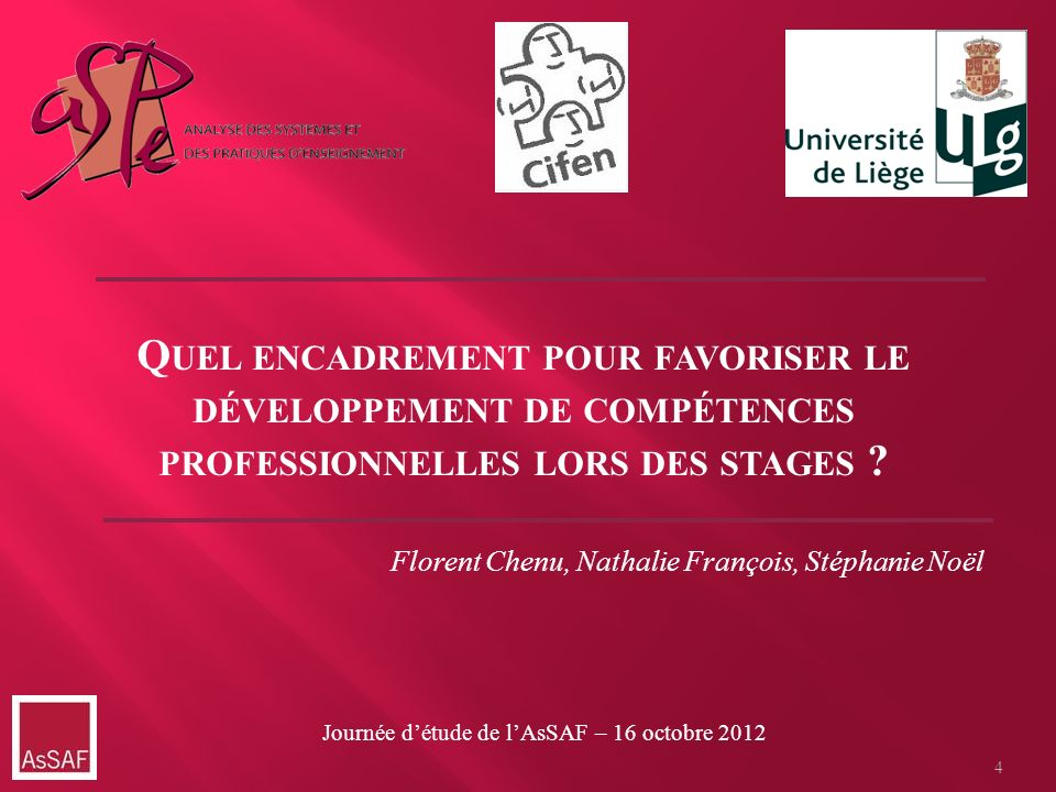 Quel encadrement pour favoriser le développement de compétences professionnelles lors des stages