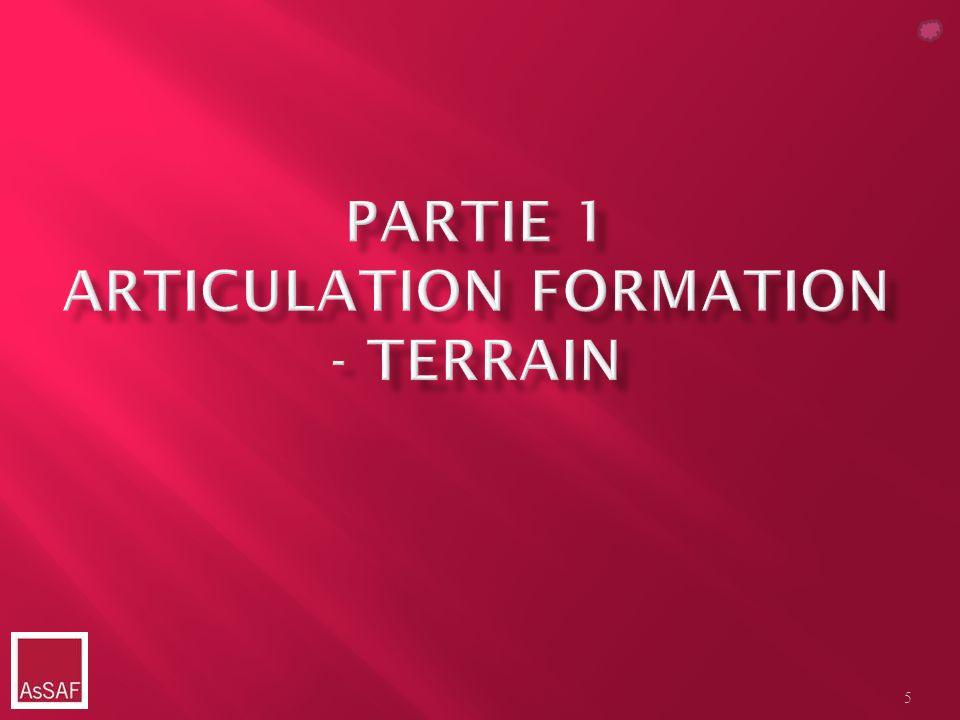 Partie 1 Articulation formation - terrain