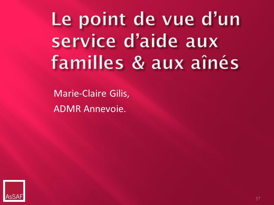 Le point de vue d'un service d'aide aux familles & aux aînés