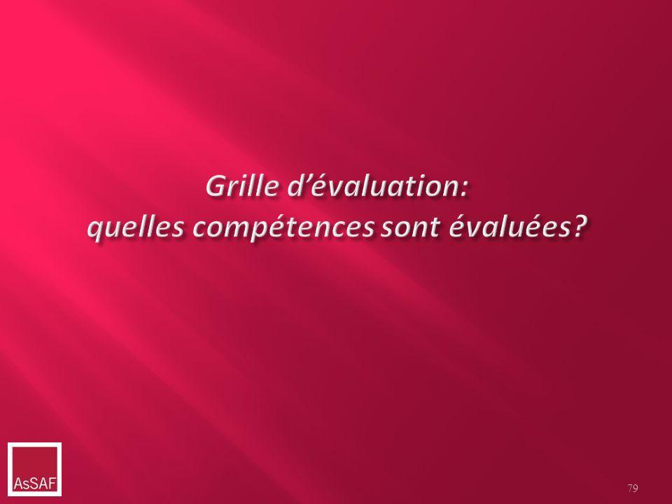 Grille d'évaluation: quelles compétences sont évaluées