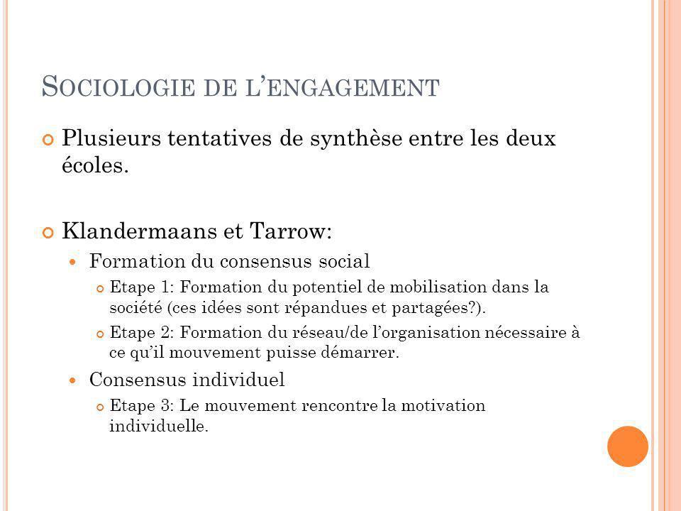 Sociologie de l'engagement
