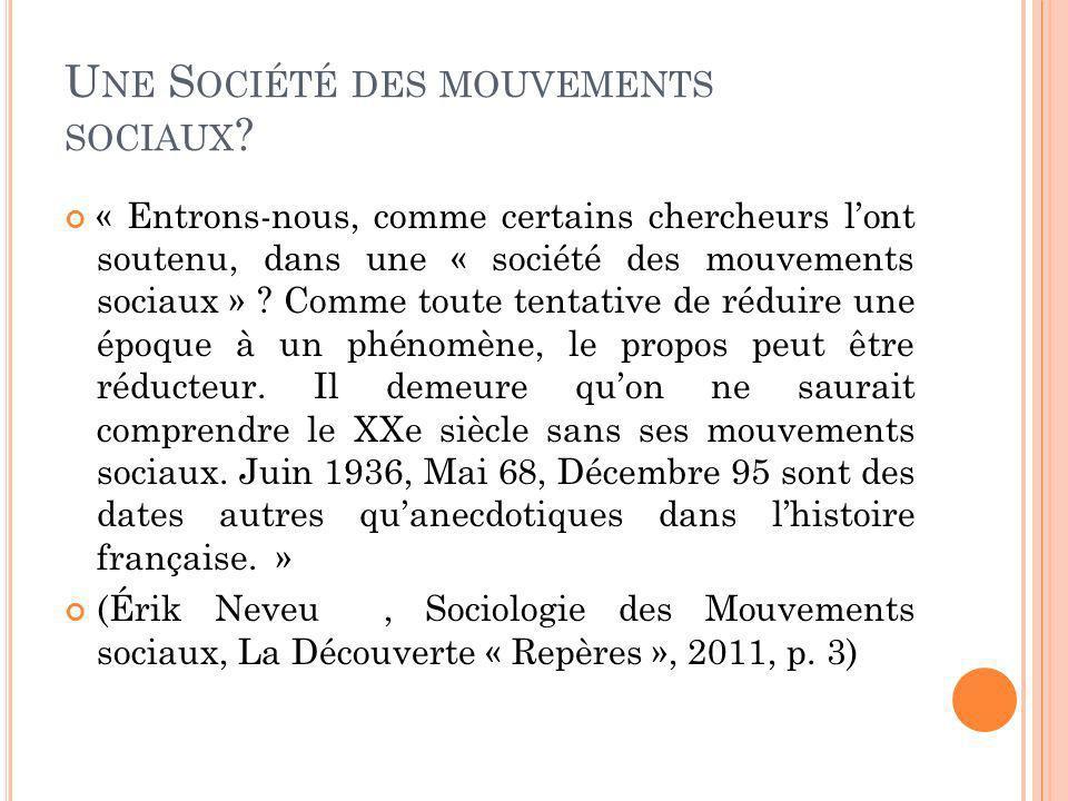 Une Société des mouvements sociaux