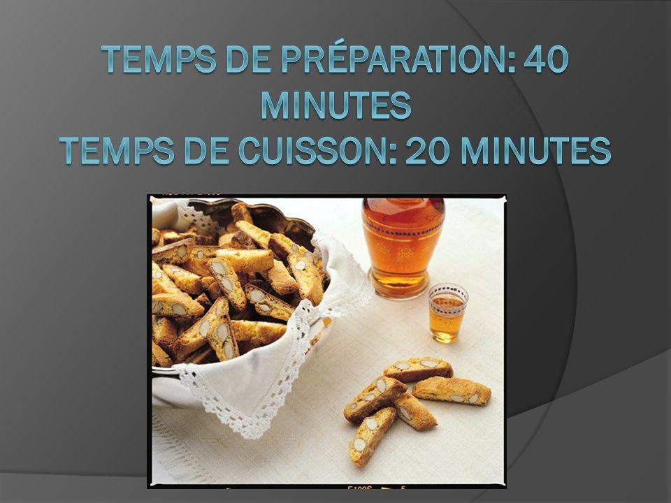 Temps de préparation: 40 minutes Temps de cuisson: 20 minutes