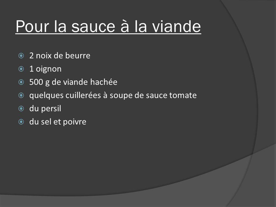 Pour la sauce à la viande