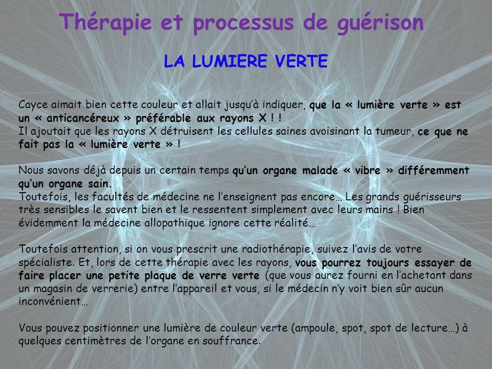 Thérapie et processus de guérison