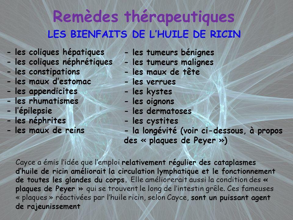 Remèdes thérapeutiques LES BIENFAITS DE L'HUILE DE RICIN