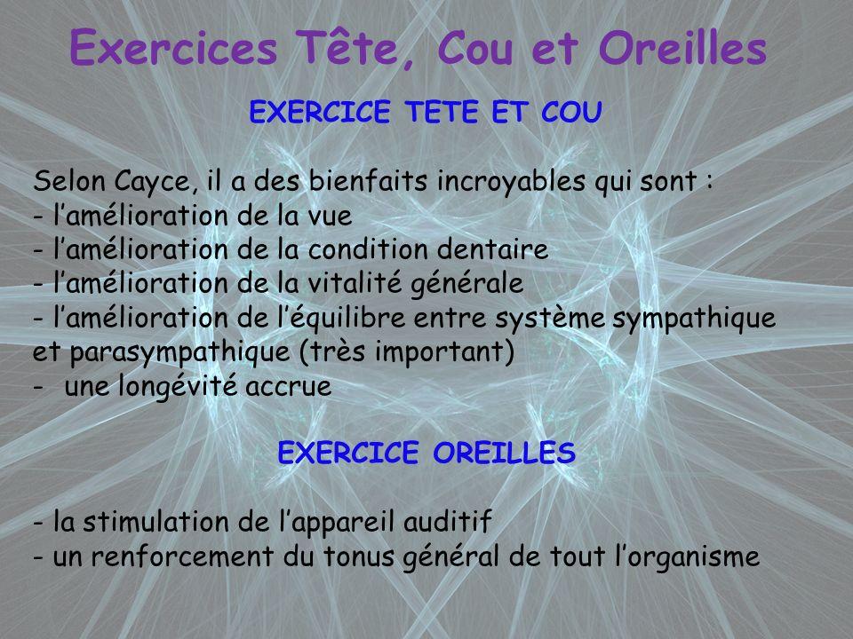 Exercices Tête, Cou et Oreilles