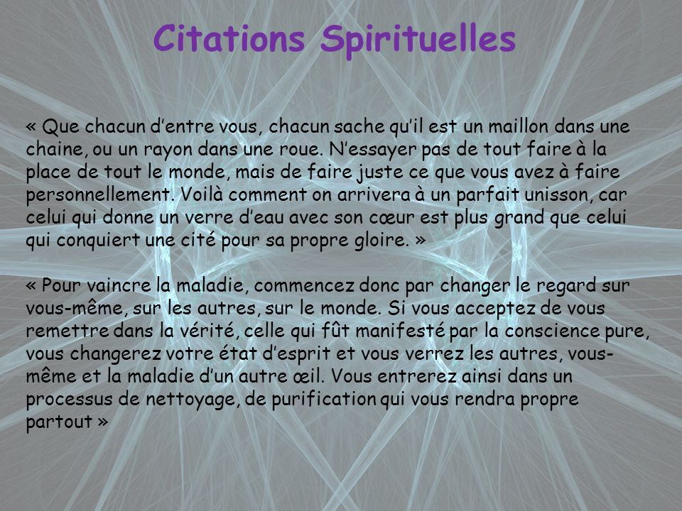 Citations Spirituelles