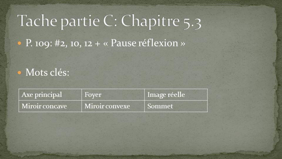 Tache partie C: Chapitre 5.3