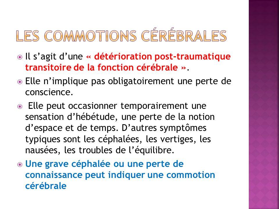 LES COMMOTIONS CÉRÉBRALES