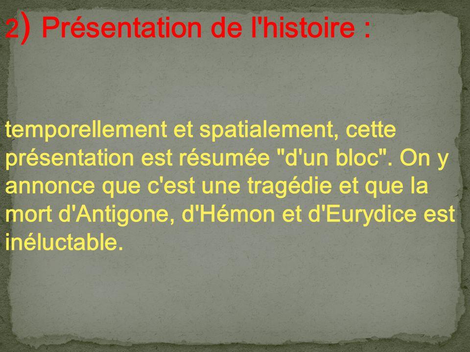 2) Présentation de l histoire :