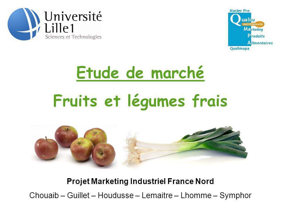 Fruits et légumes frais Projet Marketing Industriel France Nord