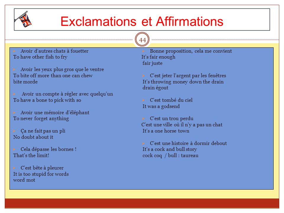 Exclamations et Affirmations