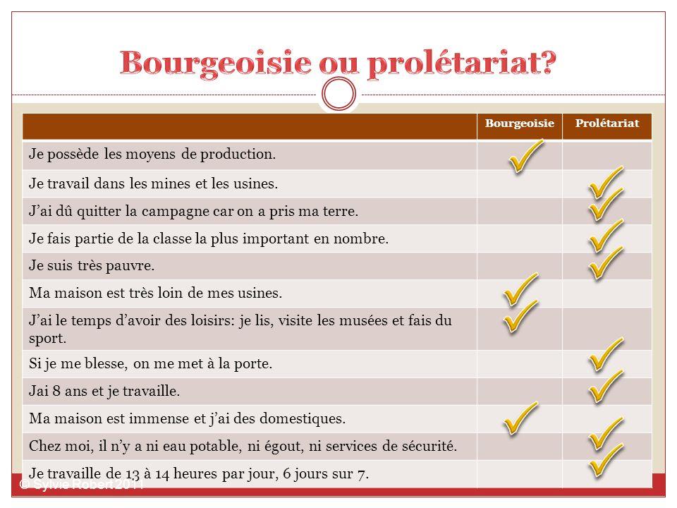 Bourgeoisie ou prolétariat
