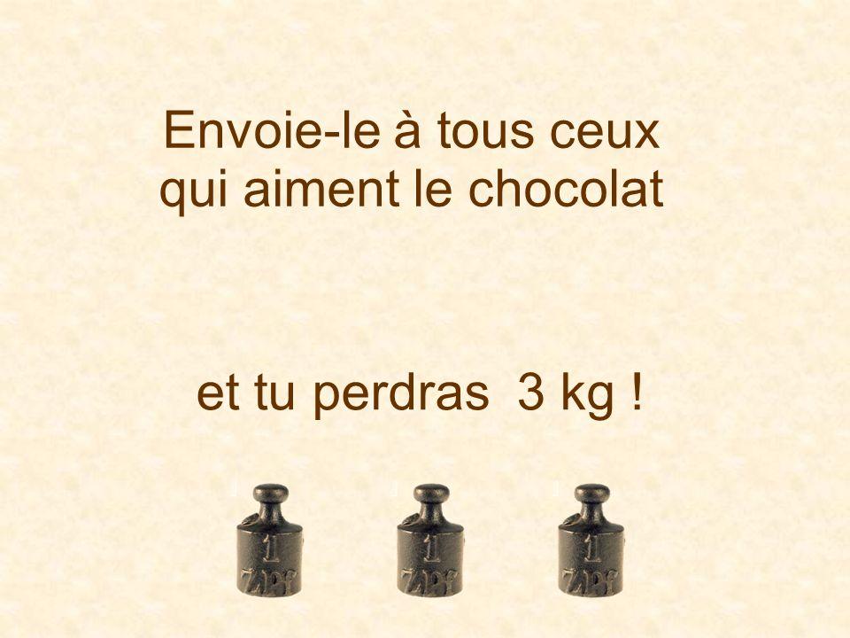 Envoie-le à tous ceux qui aiment le chocolat