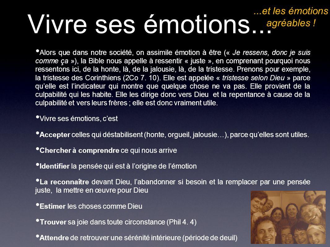 ...et les émotions agréables !