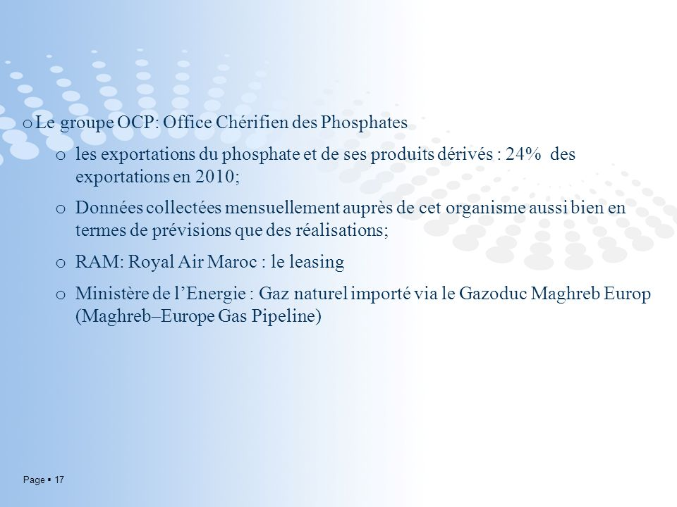 Le groupe OCP: Office Chérifien des Phosphates