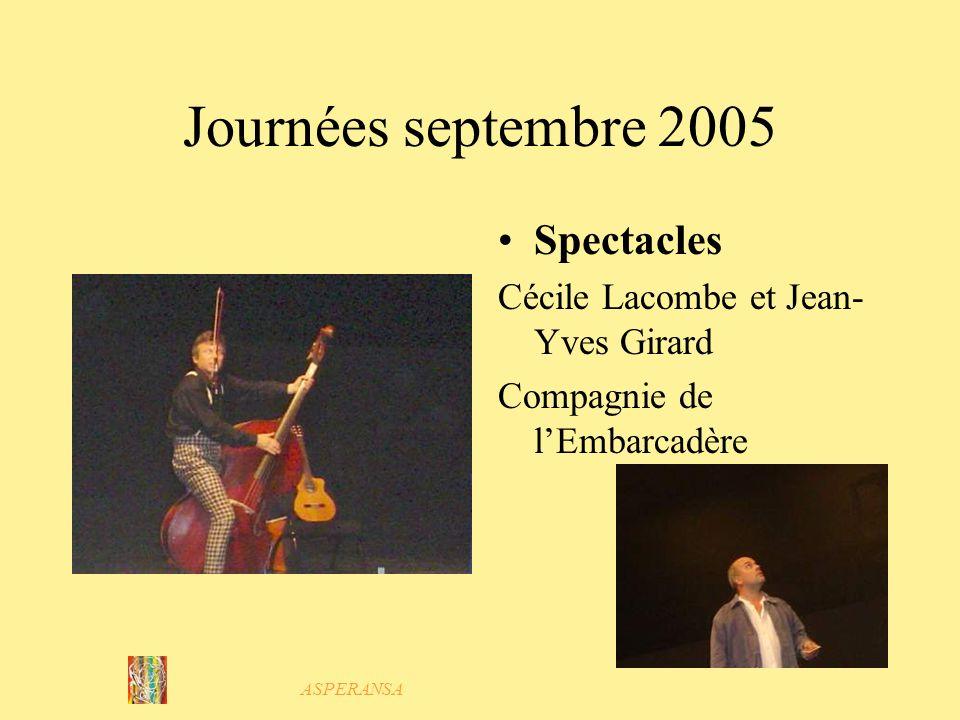 Journées septembre 2005 Spectacles Cécile Lacombe et Jean-Yves Girard