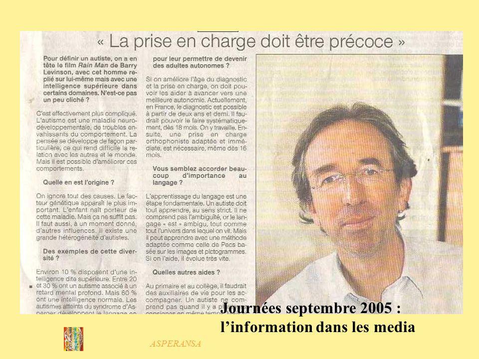 Journées septembre 2005 : l'information dans les media