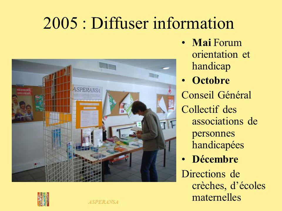 2005 : Diffuser information