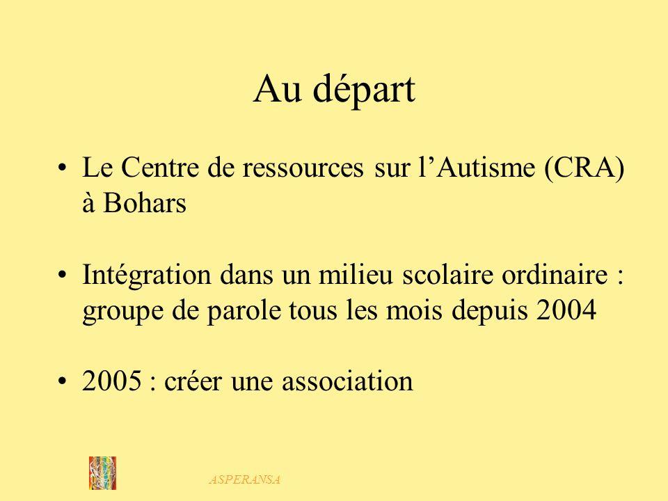 Au départ Le Centre de ressources sur l'Autisme (CRA) à Bohars