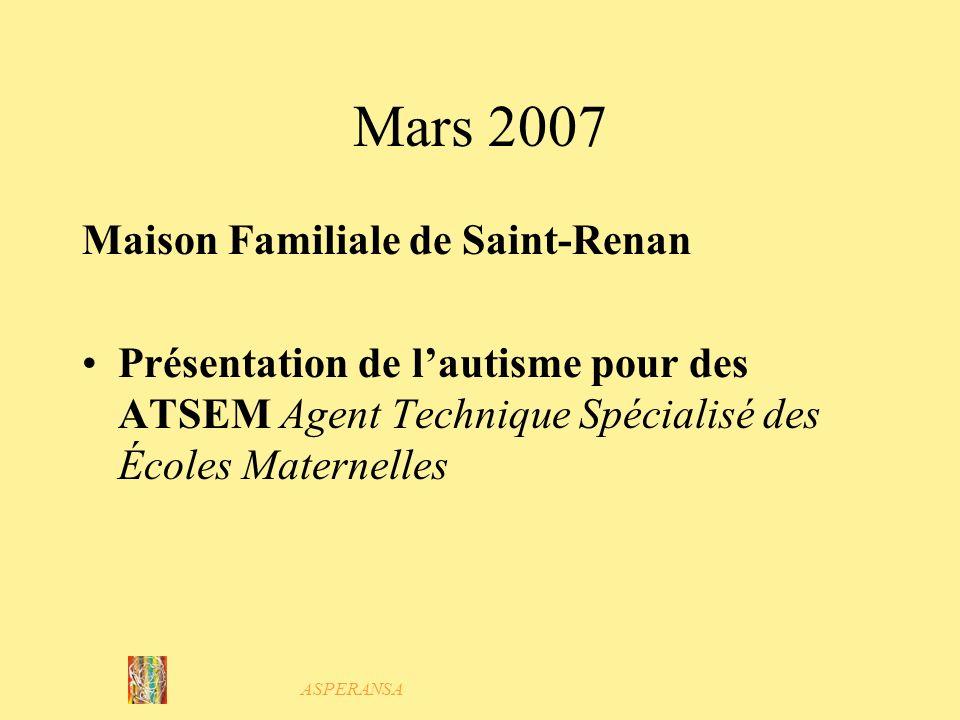 Mars 2007 Maison Familiale de Saint-Renan