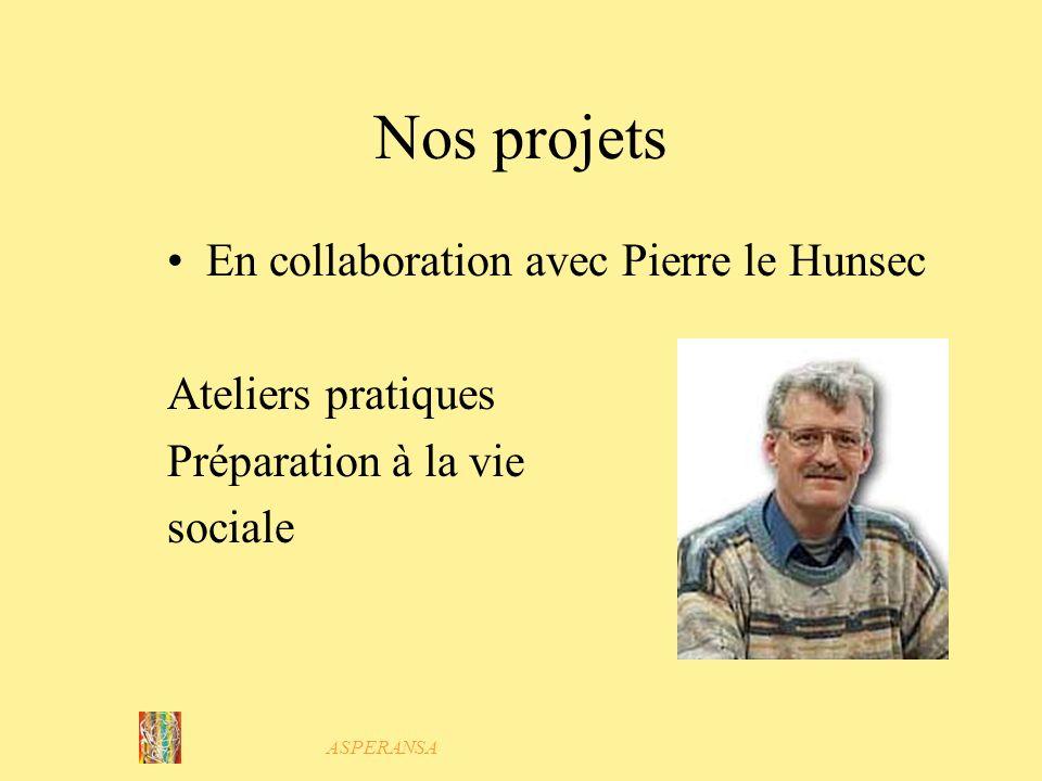 Nos projets En collaboration avec Pierre le Hunsec Ateliers pratiques