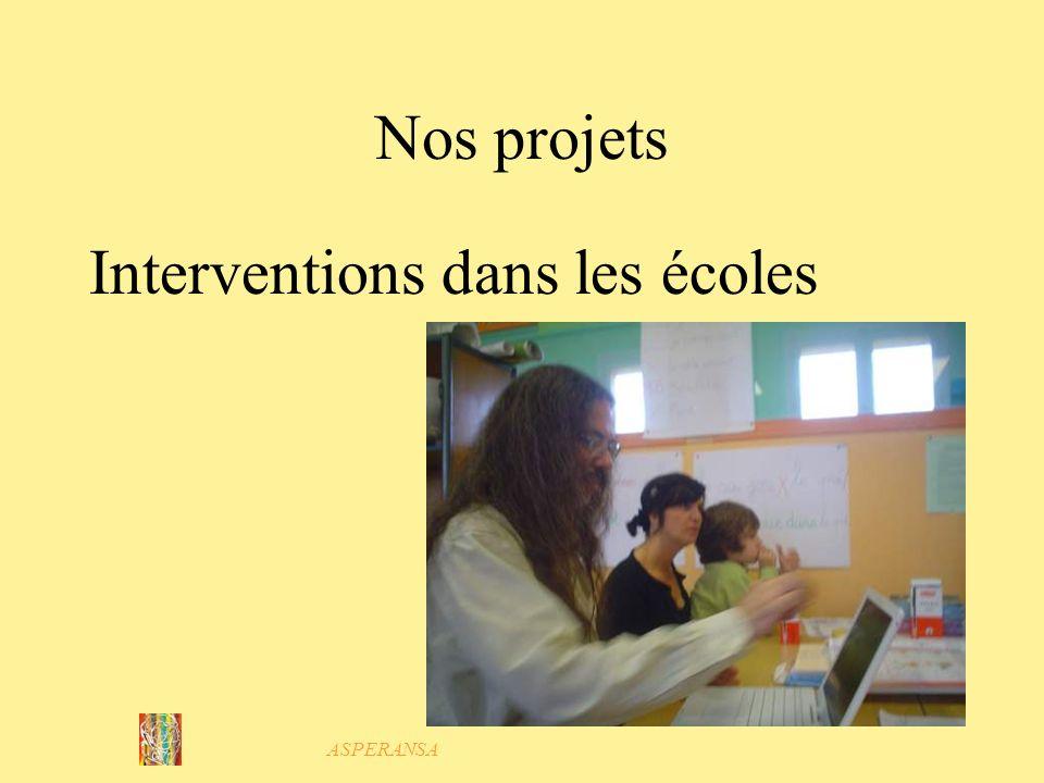 Interventions dans les écoles