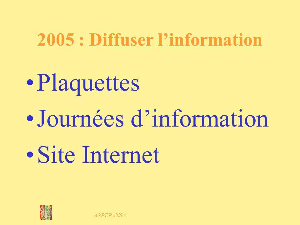 2005 : Diffuser l'information