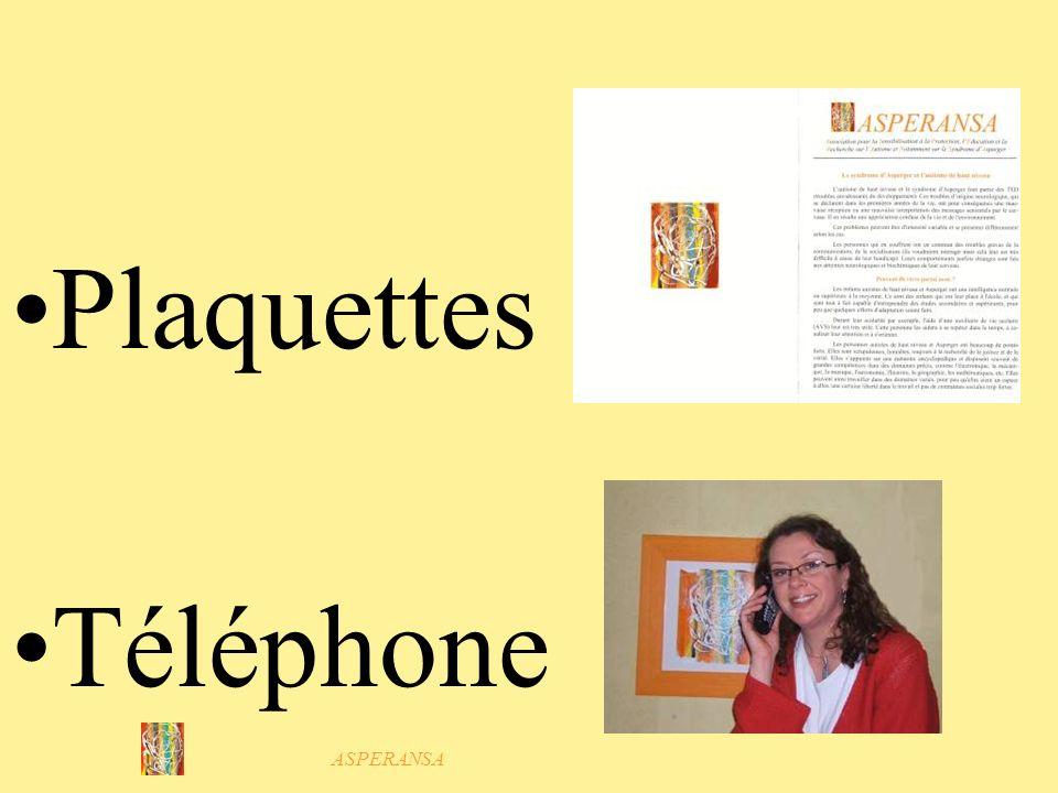 Plaquettes Téléphone ASPERANSA