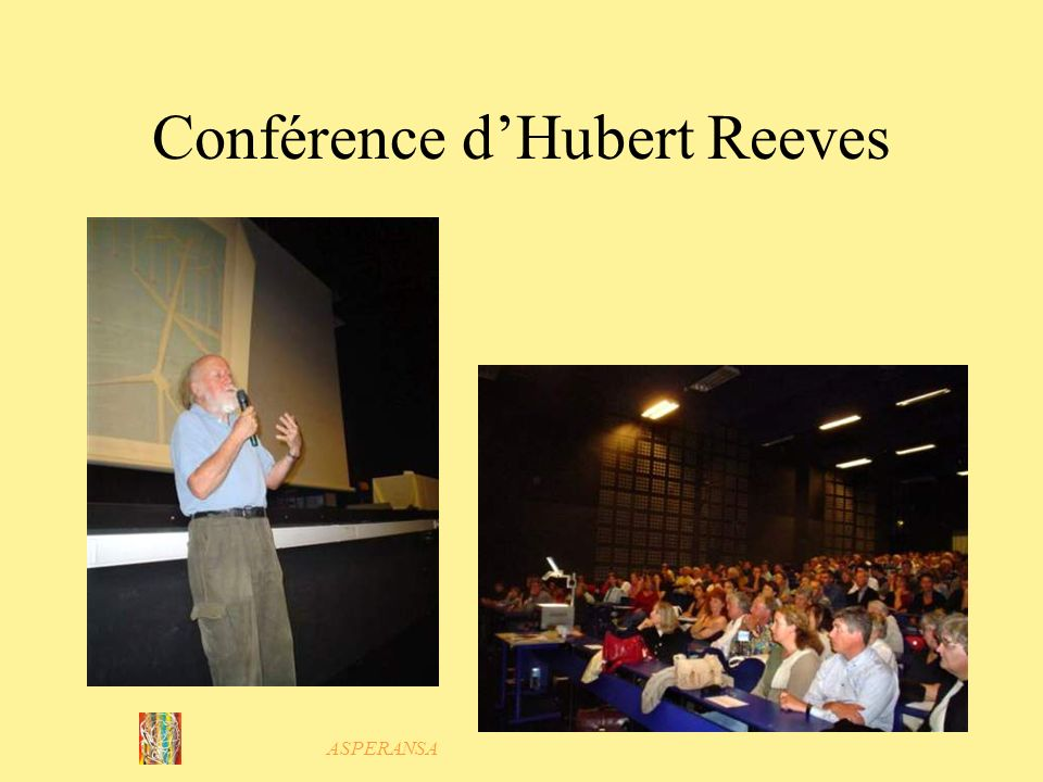 Conférence d'Hubert Reeves