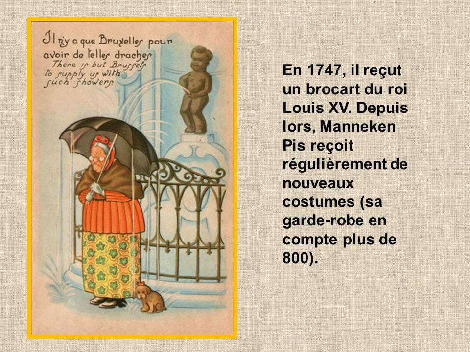 En 1747, il reçut un brocart du roi Louis XV
