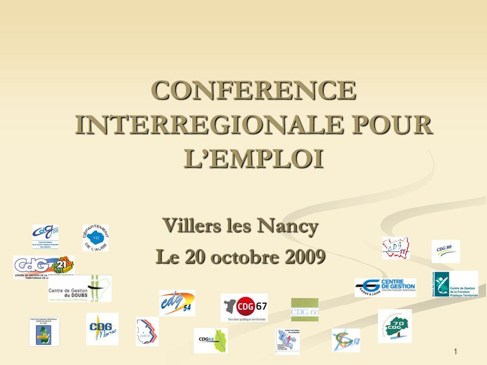 CONFERENCE INTERREGIONALE POUR L'EMPLOI