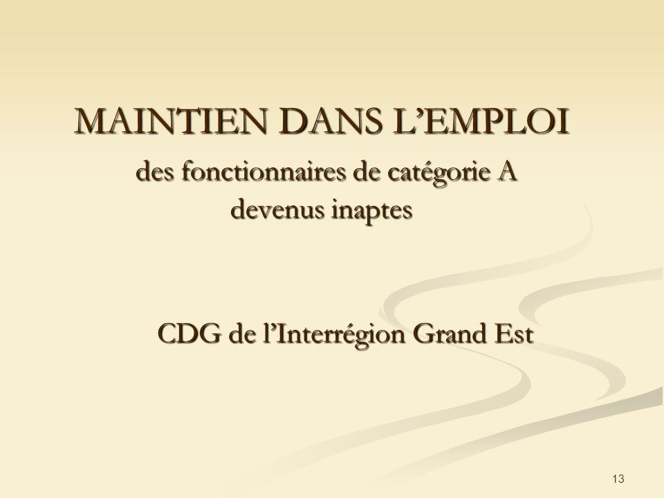 CDG de l'Interrégion Grand Est