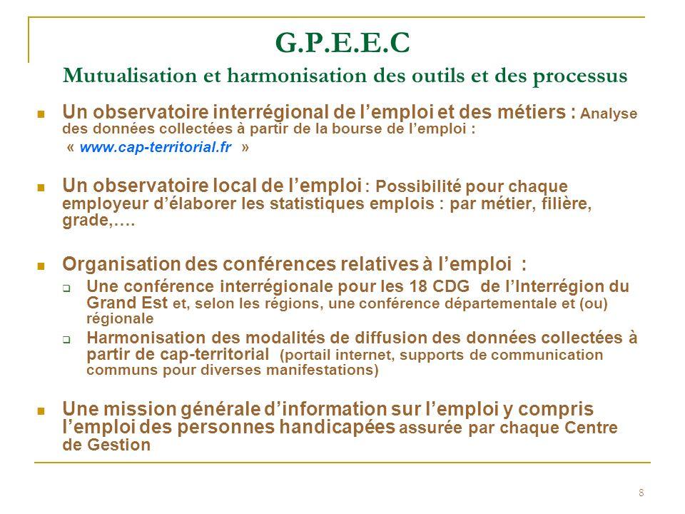 G.P.E.E.C Mutualisation et harmonisation des outils et des processus