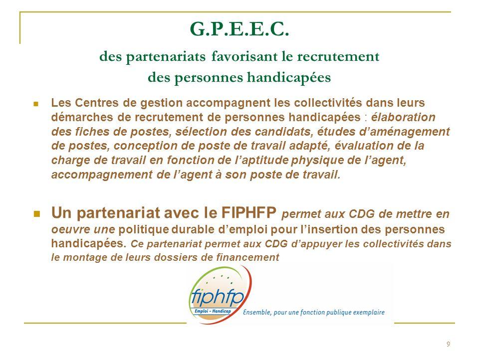 G.P.E.E.C. des partenariats favorisant le recrutement des personnes handicapées