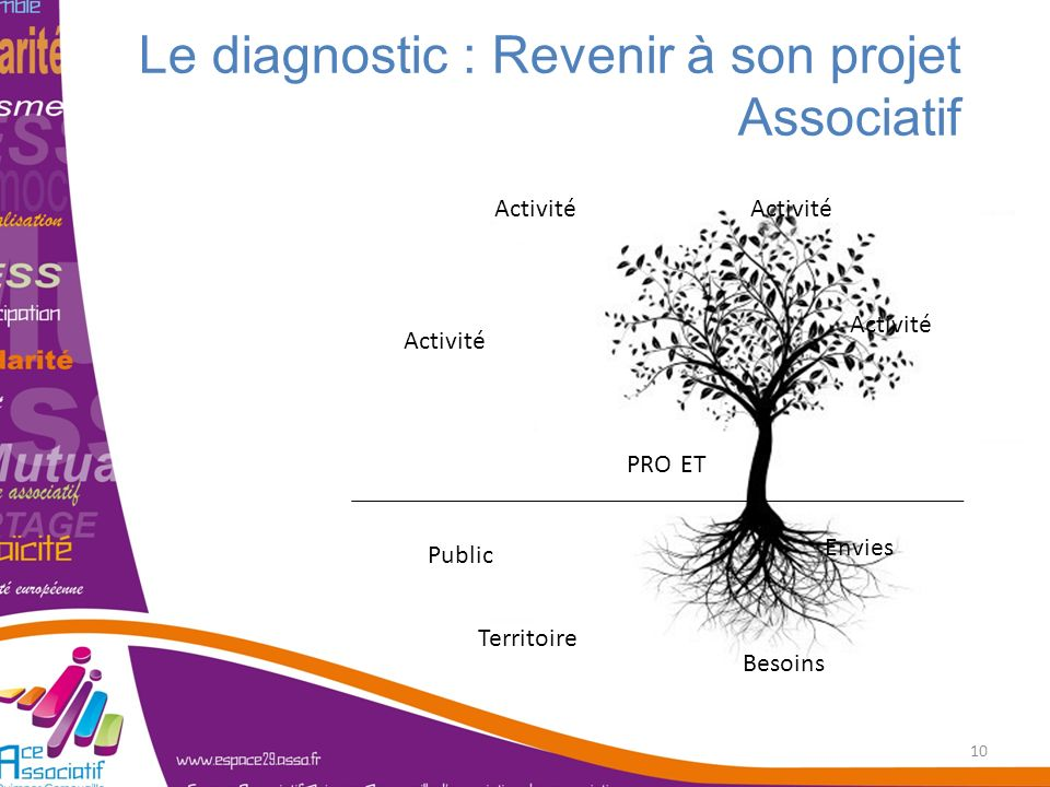 Le diagnostic : Revenir à son projet Associatif