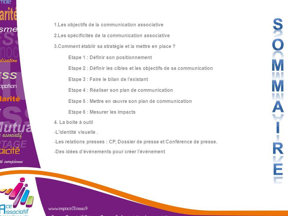 Sommaire Les objectifs de la communication associative