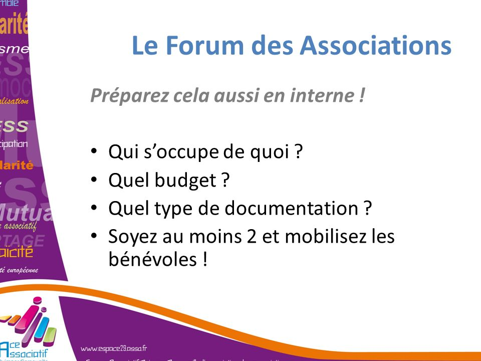 Le Forum des Associations