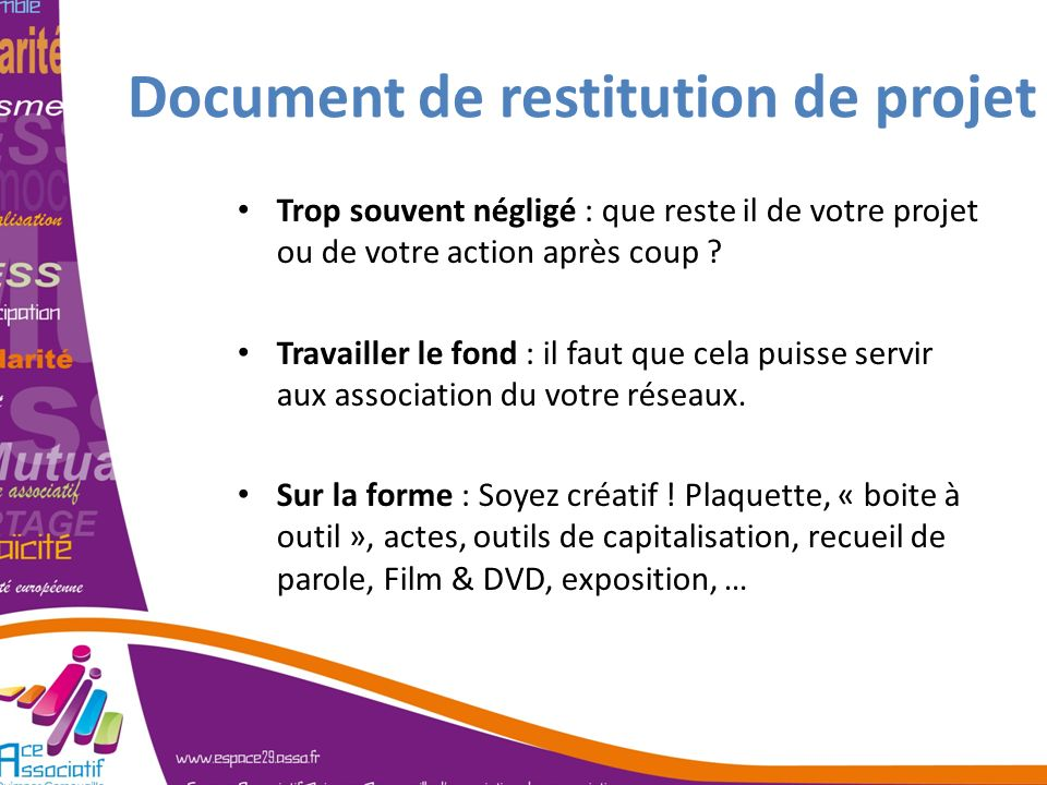 Document de restitution de projet