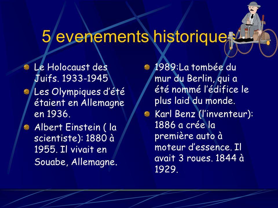 5 evenements historiques