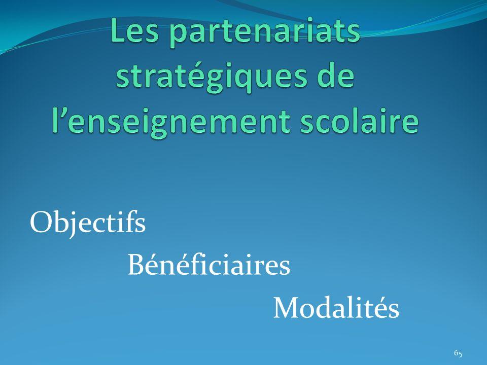 Les partenariats stratégiques de l'enseignement scolaire